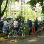Med Michael Economou som guide cyklade vi runt i Lund och tittade på några intressanta och offentliga verk.